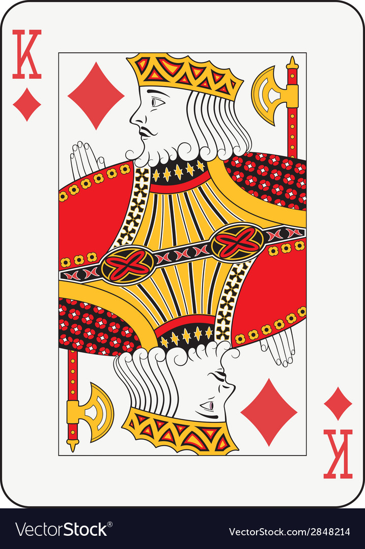 King of diamonds vector | Price: 1 Credit (USD $1)