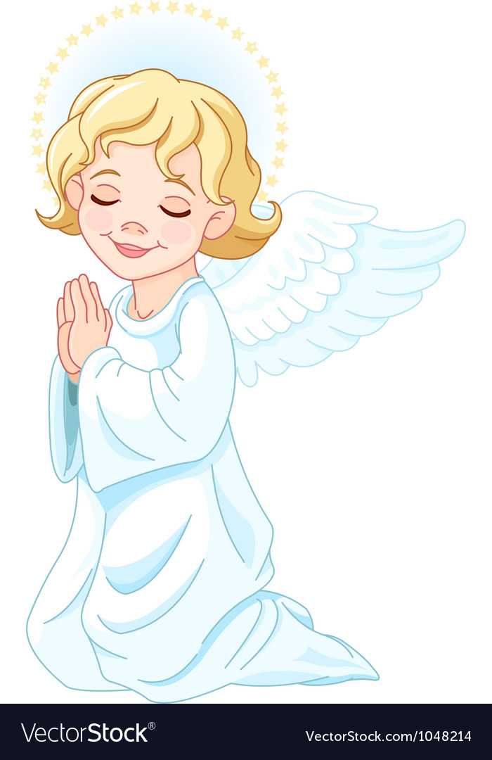Praying angel vector | Price: 3 Credit (USD $3)