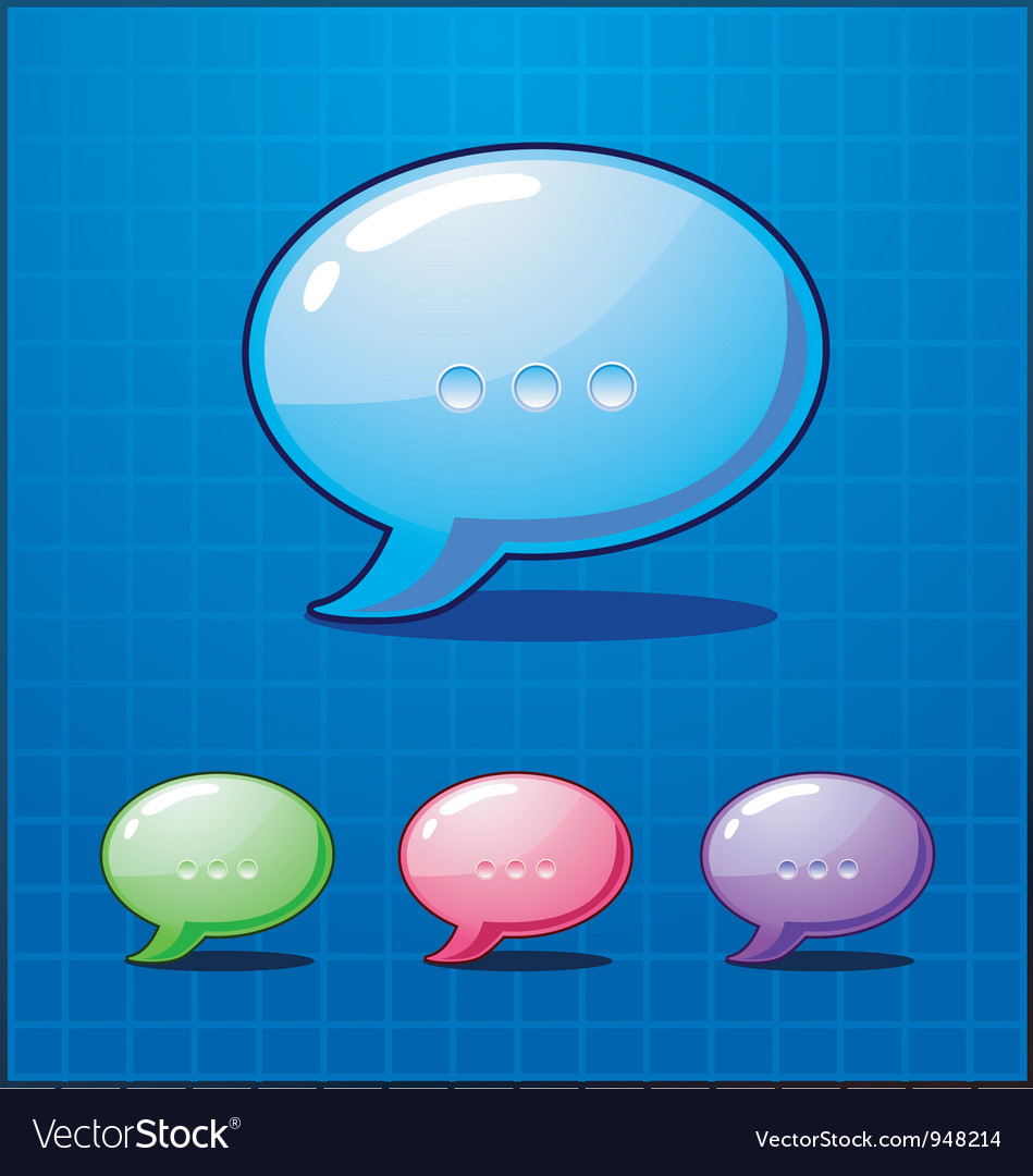Set bubble chat icon vector | Price: 1 Credit (USD $1)