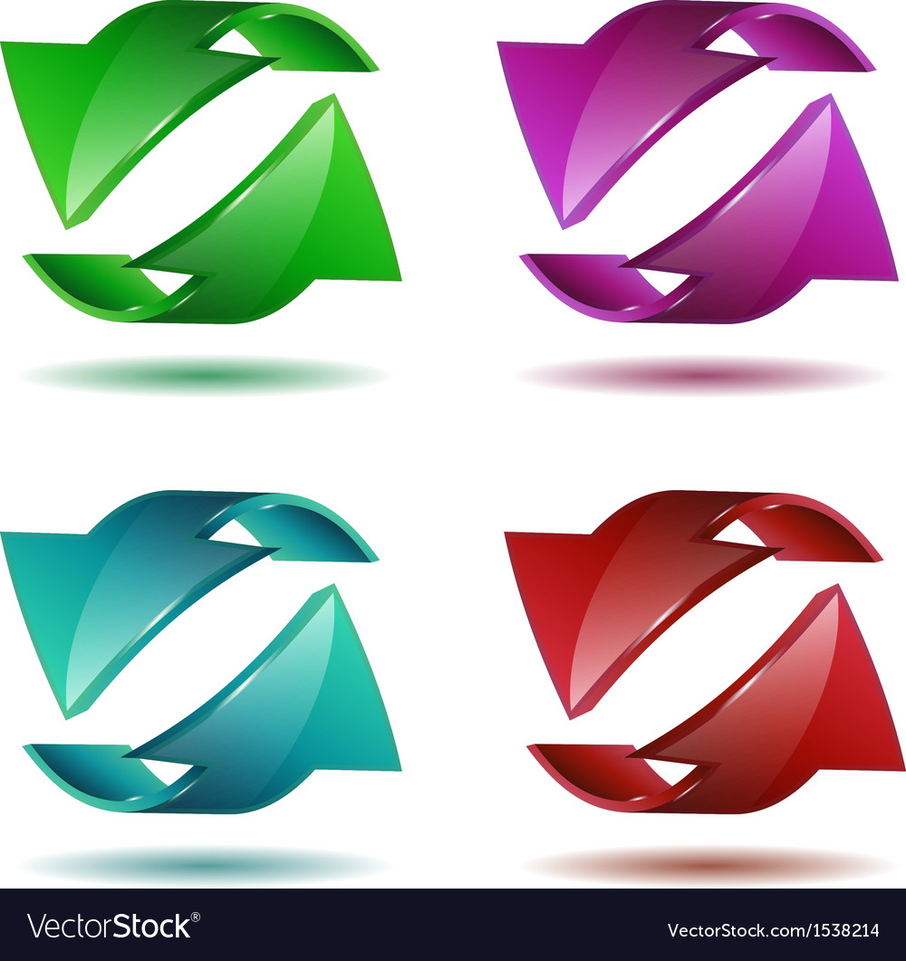 Set of arrow stickers vector | Price: 1 Credit (USD $1)