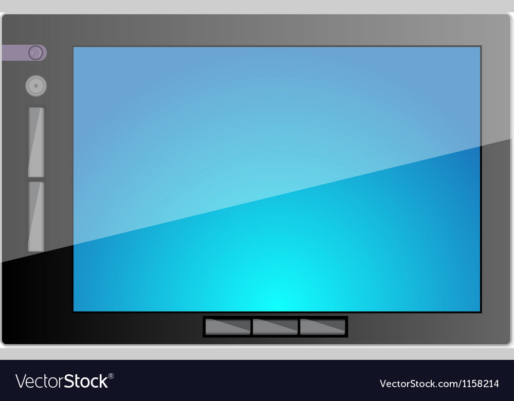 Tablet pc computer with blank screen vector | Price: 1 Credit (USD $1)
