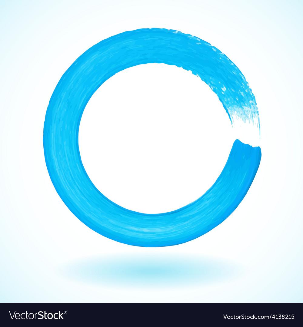Bright blue paintbrush circle frame vector | Price: 1 Credit (USD $1)