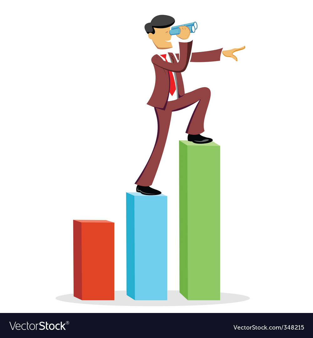 Climbing business man vector | Price: 1 Credit (USD $1)