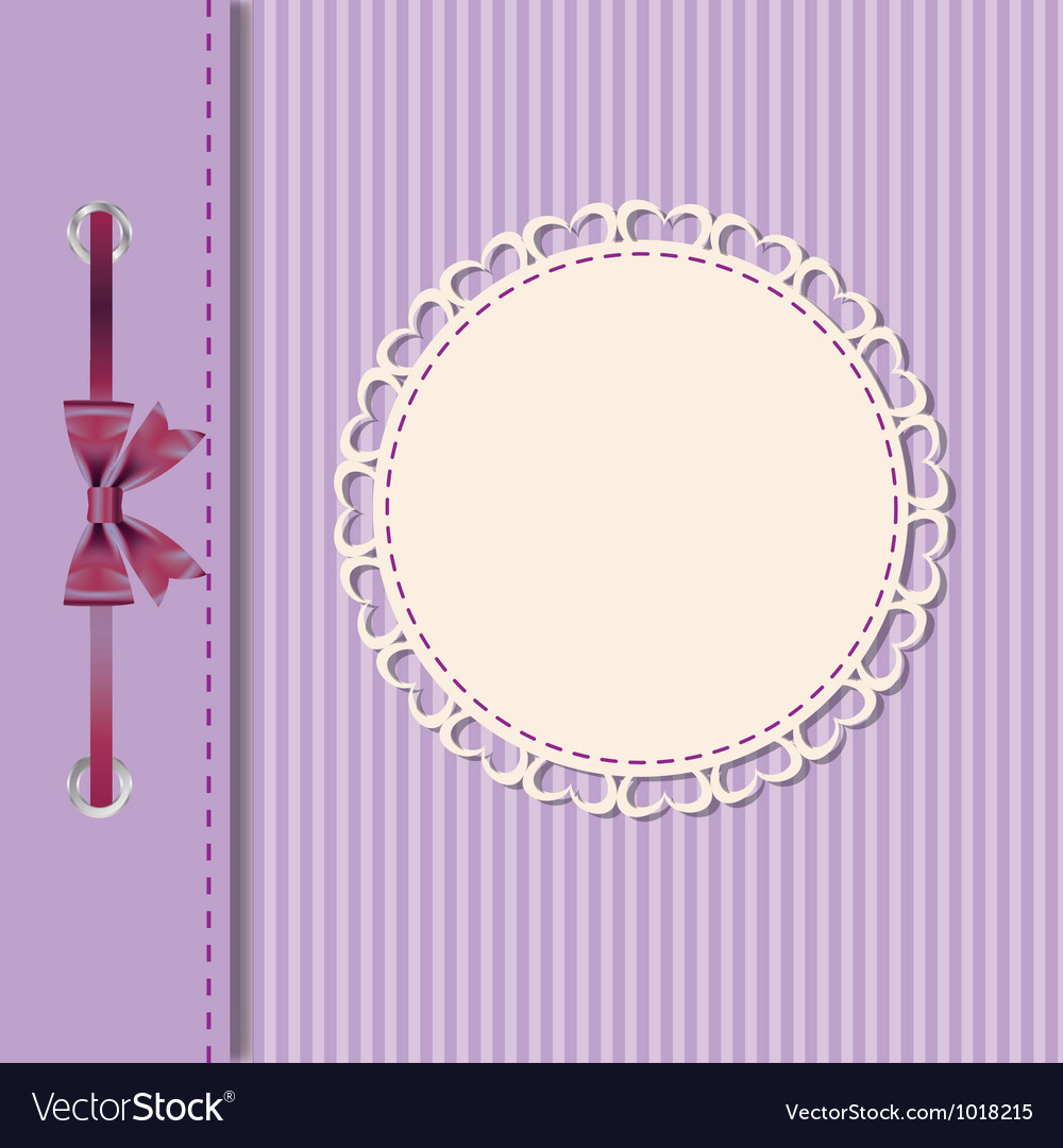 Greeting card or cover with bow space for your vector | Price: 1 Credit (USD $1)