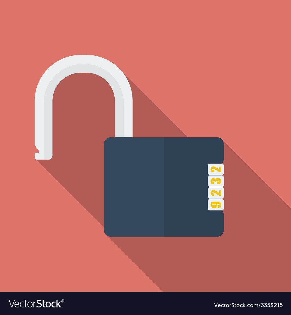Icon of padlock with code combination modern vector | Price: 1 Credit (USD $1)