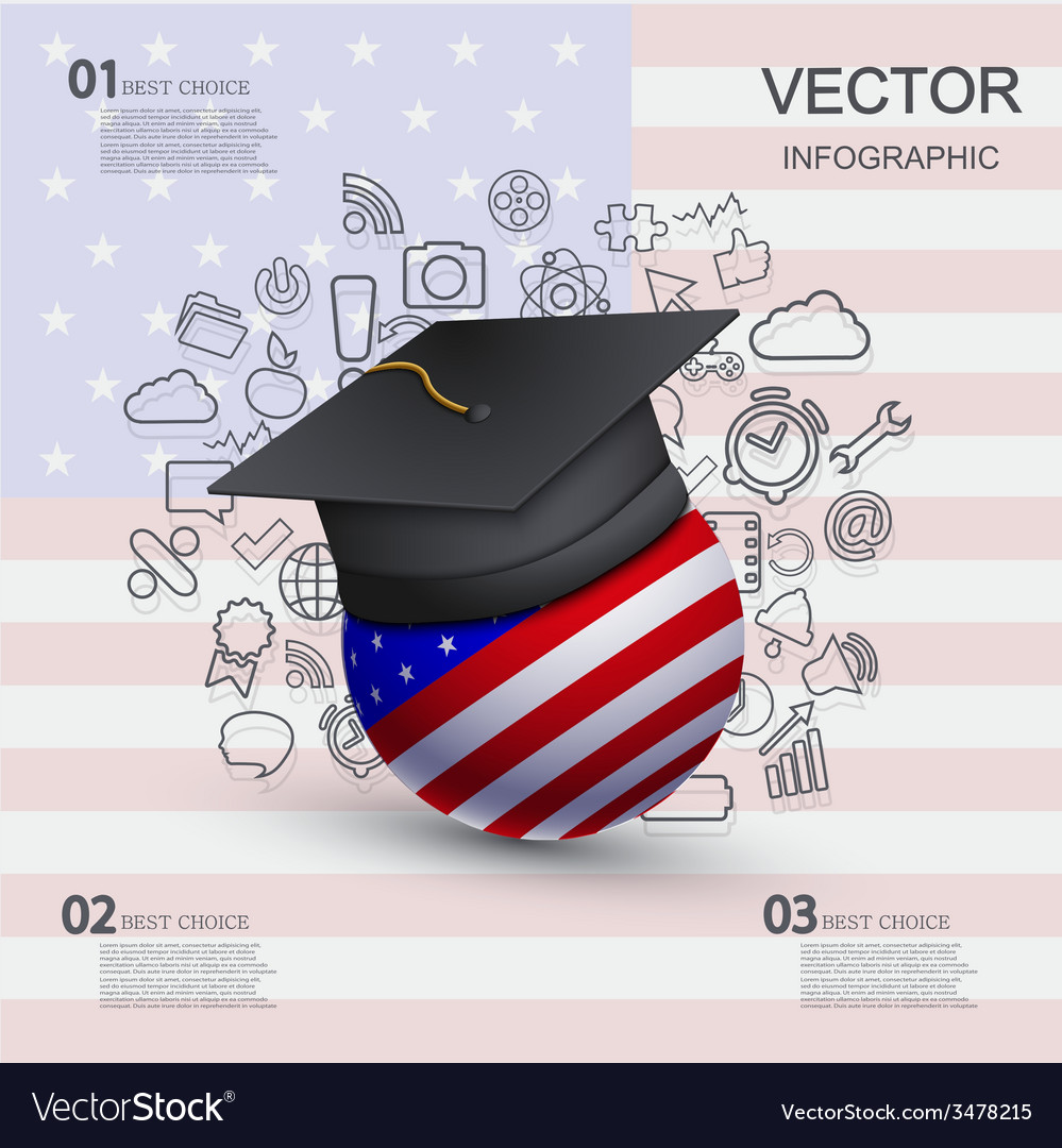 Modern education infographic background vector | Price: 1 Credit (USD $1)