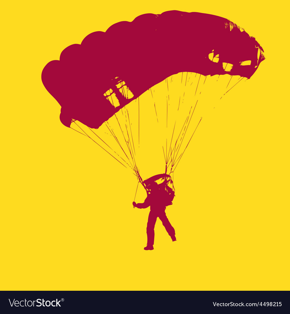 Parachutist jumper in the helmet after the jump vector | Price: 1 Credit (USD $1)