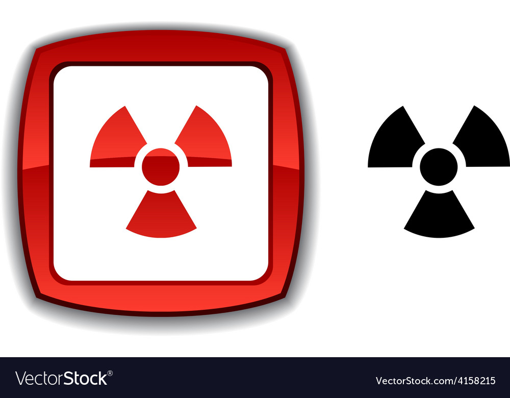 Radiation button vector | Price: 1 Credit (USD $1)