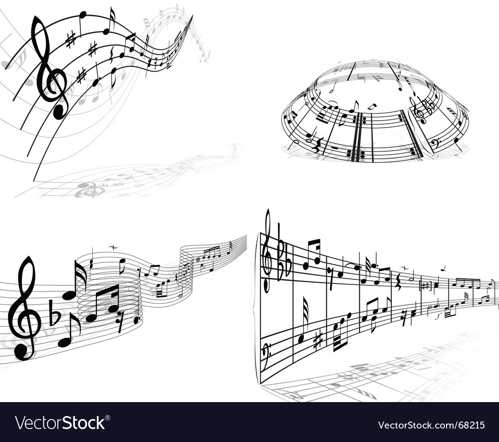 Set of music background vector | Price: 1 Credit (USD $1)