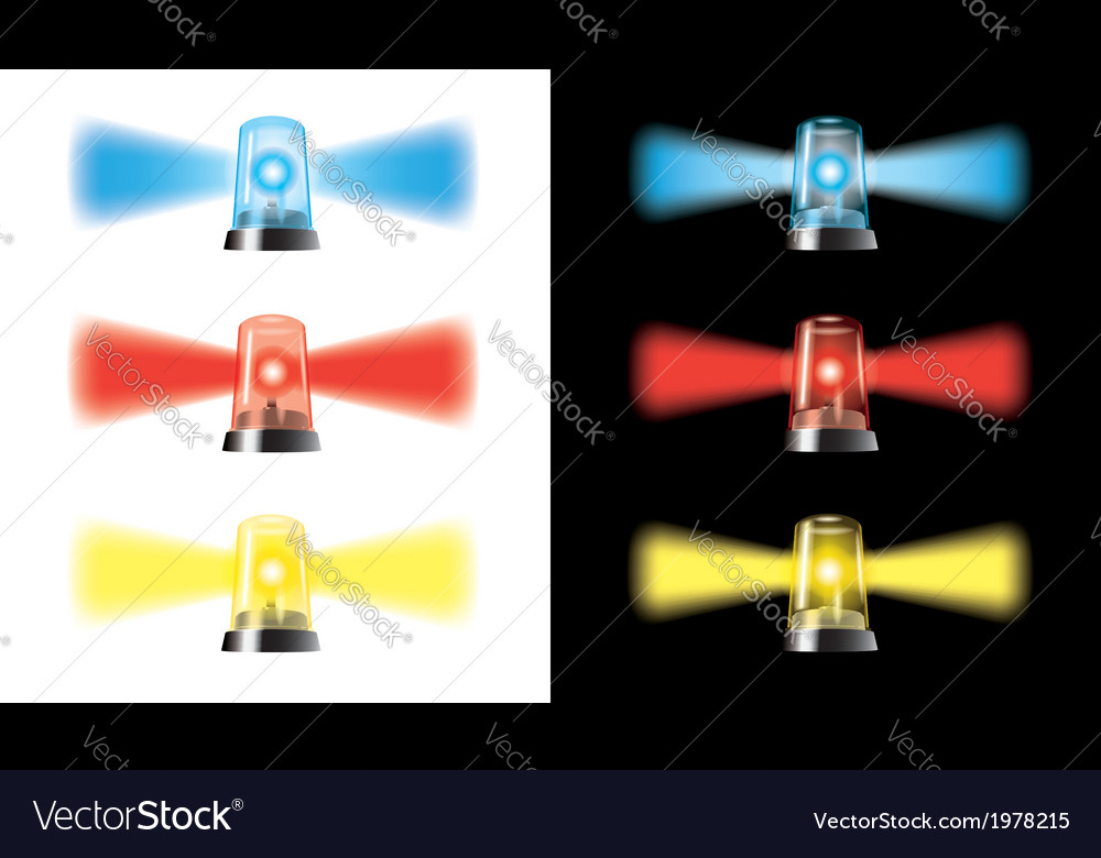 Visual warning lights - special cars signal vector | Price: 1 Credit (USD $1)