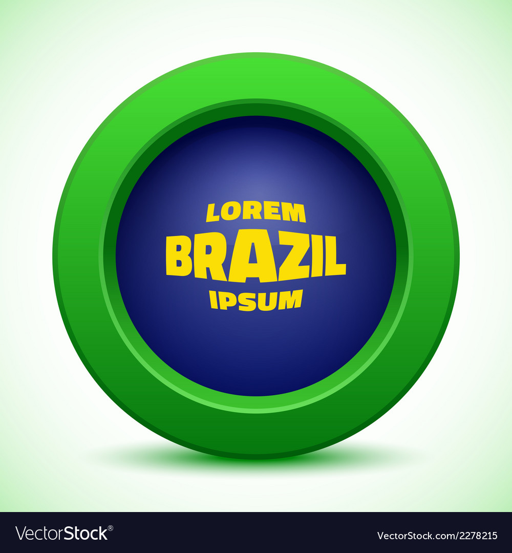 Web button using brazil flag colors vector | Price: 1 Credit (USD $1)