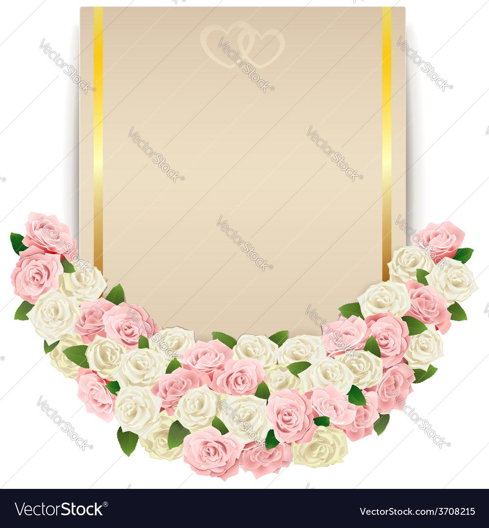 Wedding flower card vector | Price: 1 Credit (USD $1)