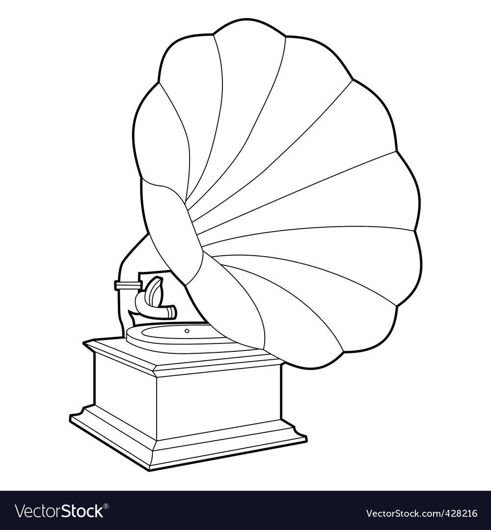 Gramophone vector | Price: 1 Credit (USD $1)