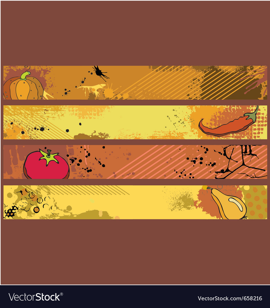 Grunge banners food vector   Price: 1 Credit (USD $1)