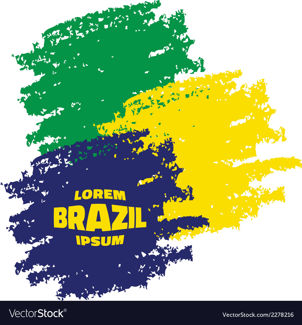 Grunge smears using brazil flag colors vector | Price: 1 Credit (USD $1)