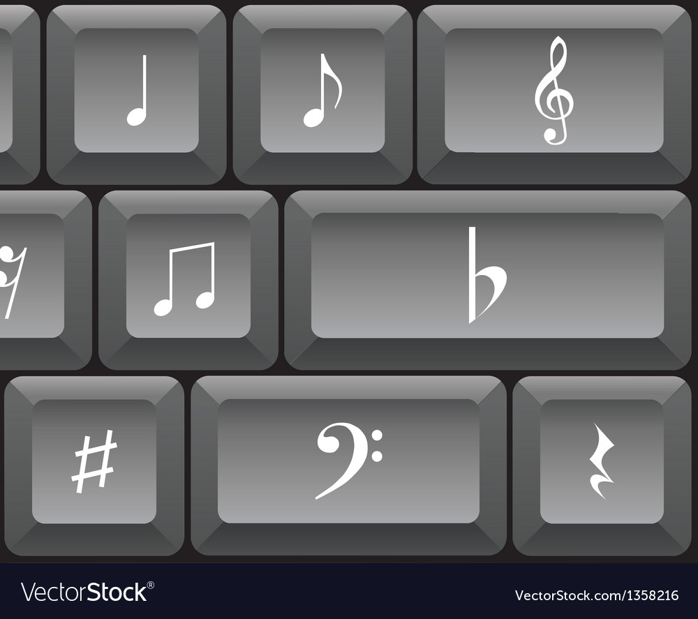 Musical notes keyboard vector   Price: 1 Credit (USD $1)