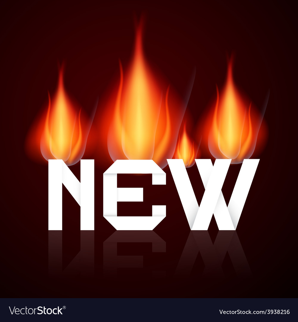 New burning title in flames vector   Price: 1 Credit (USD $1)