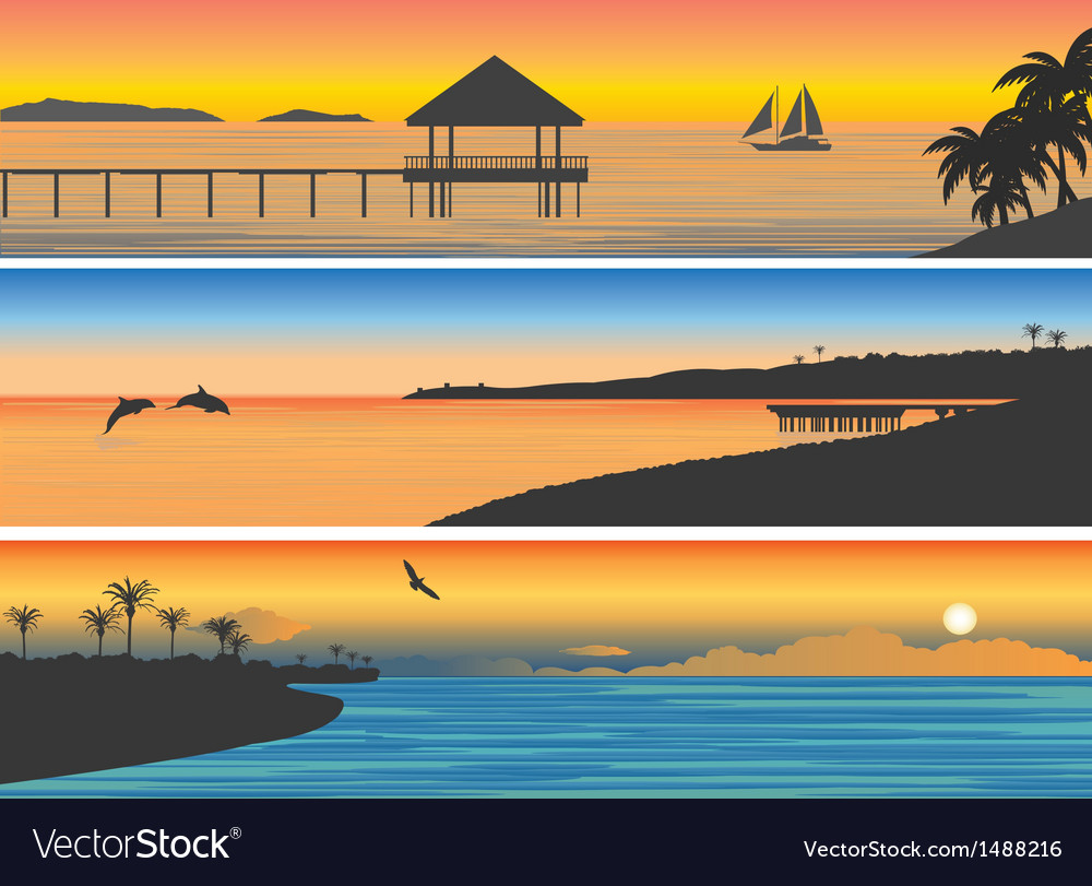Tropic island vector | Price: 1 Credit (USD $1)
