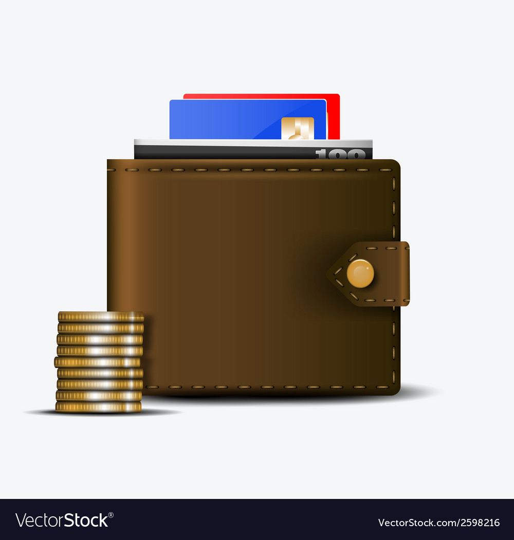 The wallet vector | Price: 1 Credit (USD $1)