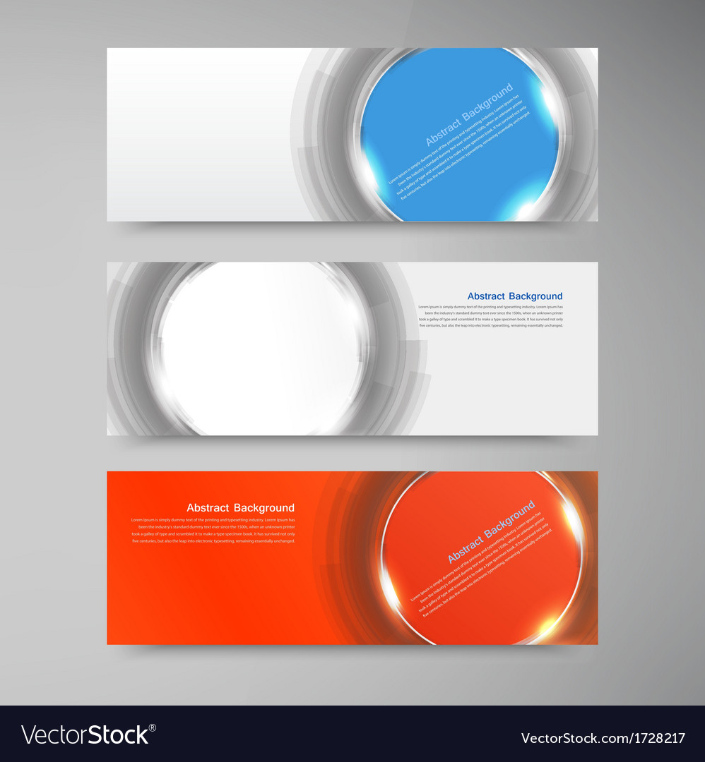 Banner background white circle and set vector | Price: 1 Credit (USD $1)