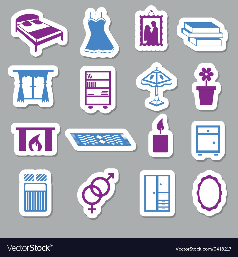 Bedroom stickers vector | Price: 1 Credit (USD $1)