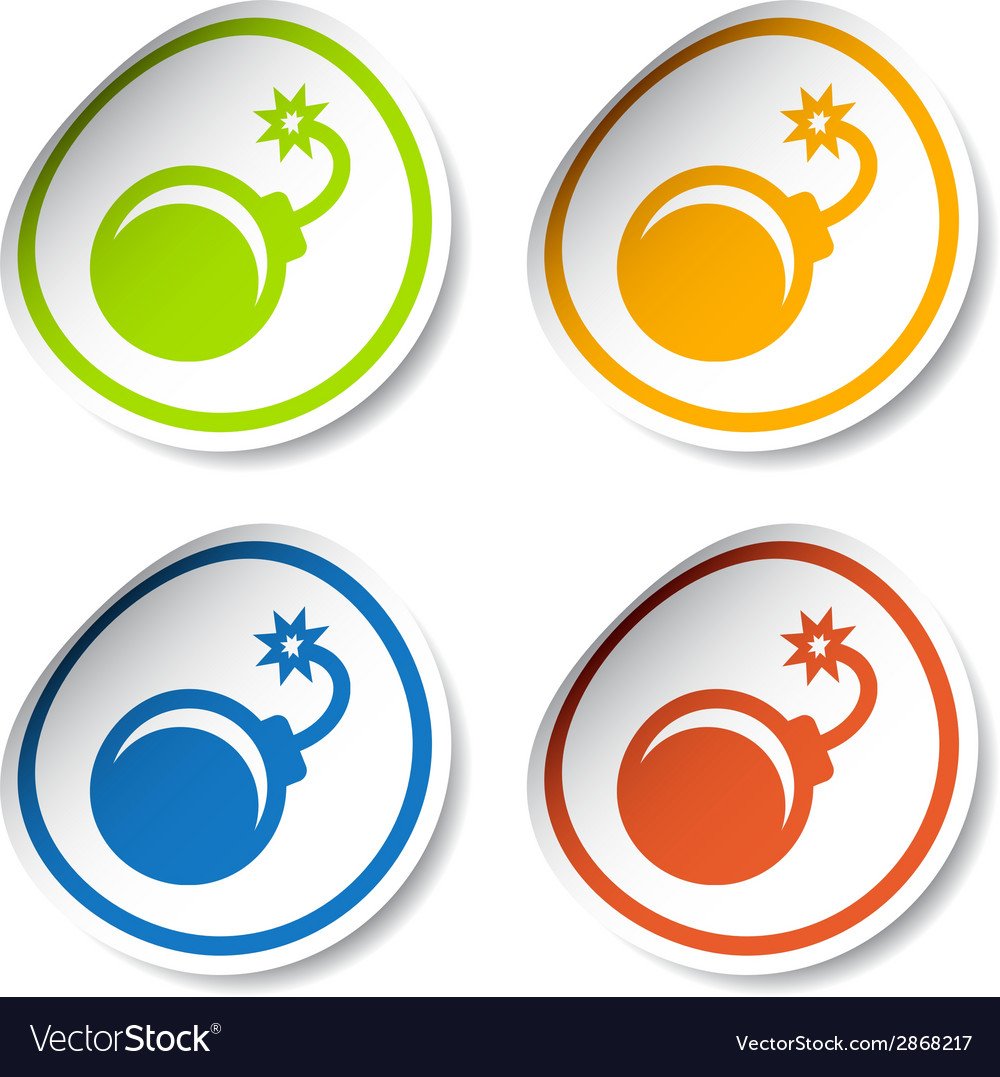 Bomb stickers vector | Price: 1 Credit (USD $1)