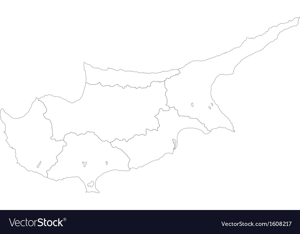 Cyprus map vector | Price: 1 Credit (USD $1)