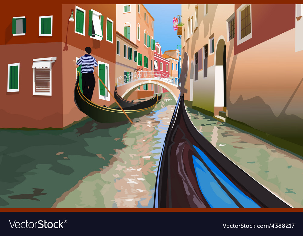 Gondola trip vector | Price: 3 Credit (USD $3)