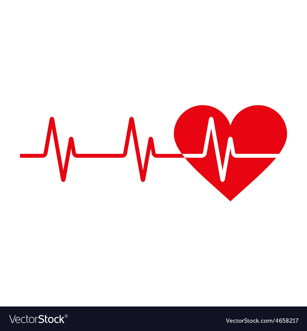 Heartbeat icon vector | Price: 1 Credit (USD $1)