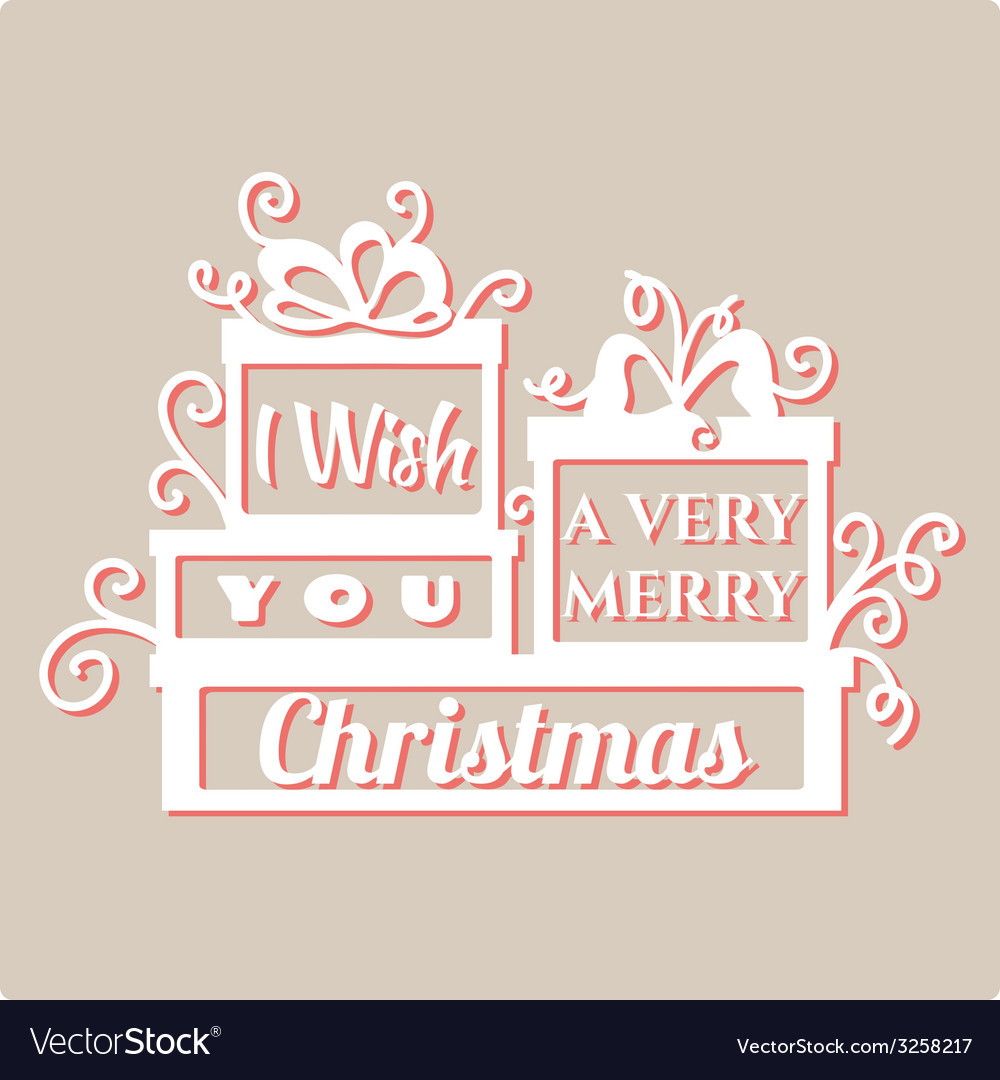 I wish you a very merry christmas vector | Price: 1 Credit (USD $1)