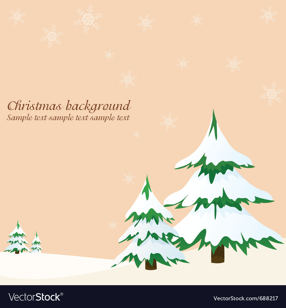 Landscape with fir trees vector | Price: 1 Credit (USD $1)
