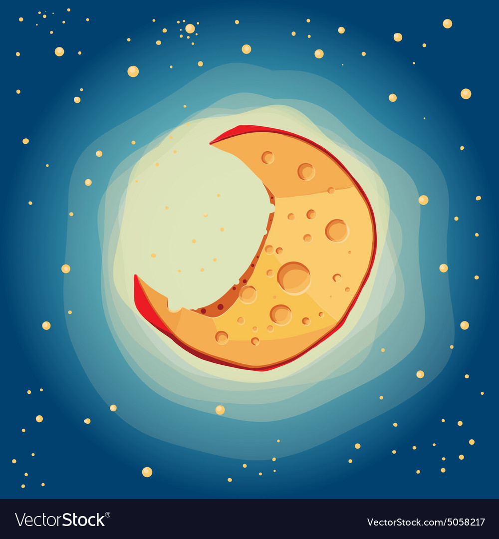Moon cheese vector