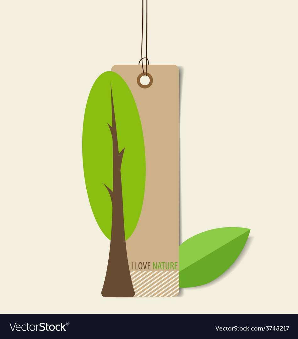 Nature banner eco organic labels and tags vector | Price: 1 Credit (USD $1)