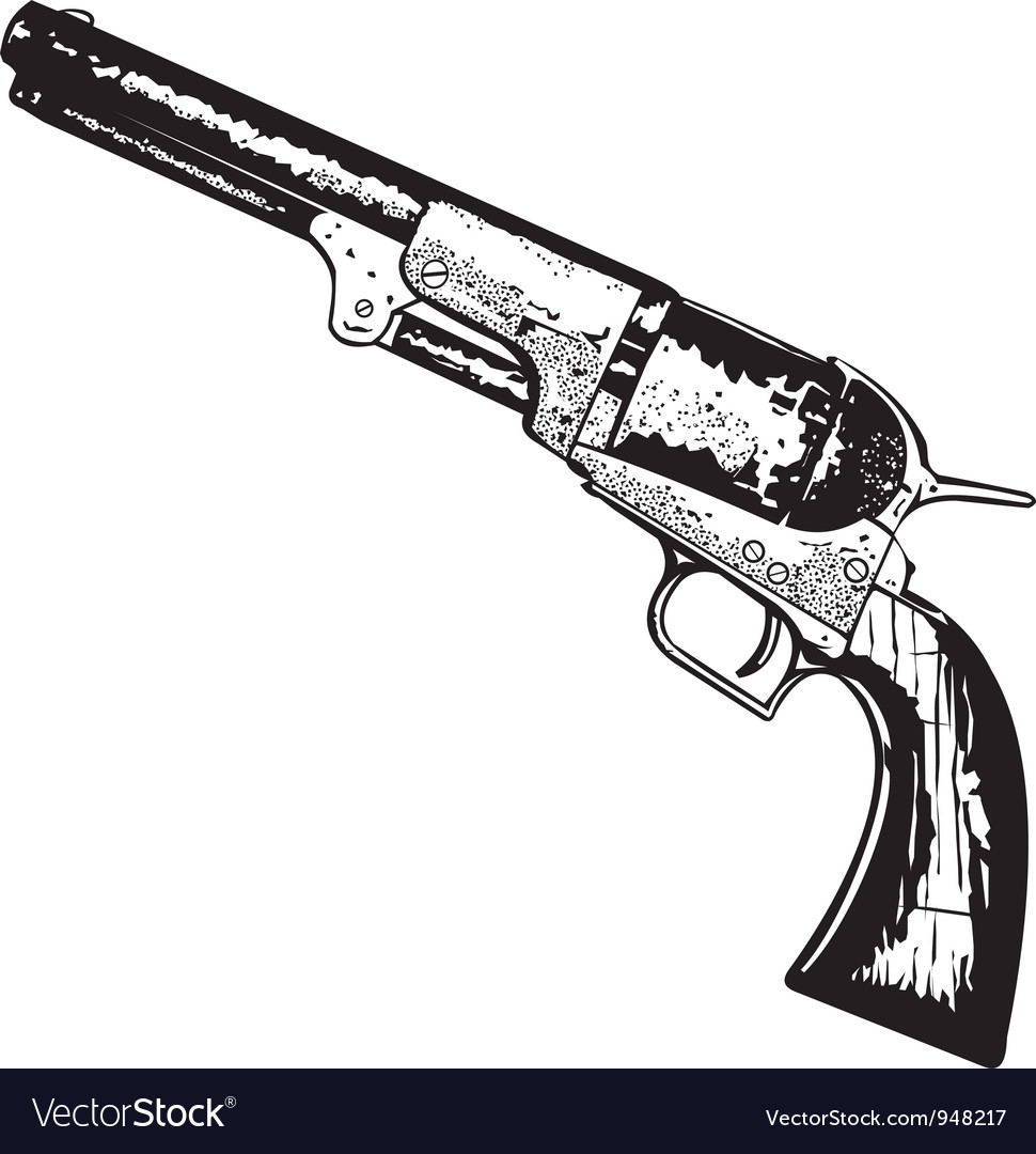 Old west gun vector | Price: 1 Credit (USD $1)