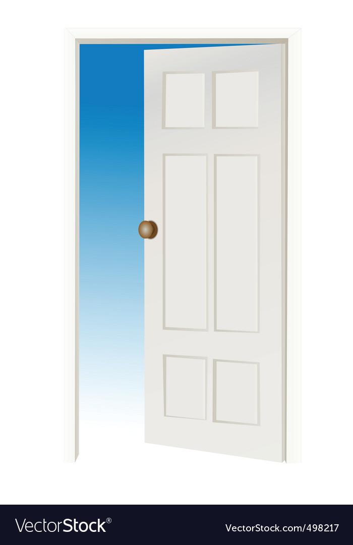Open door vector | Price: 1 Credit (USD $1)