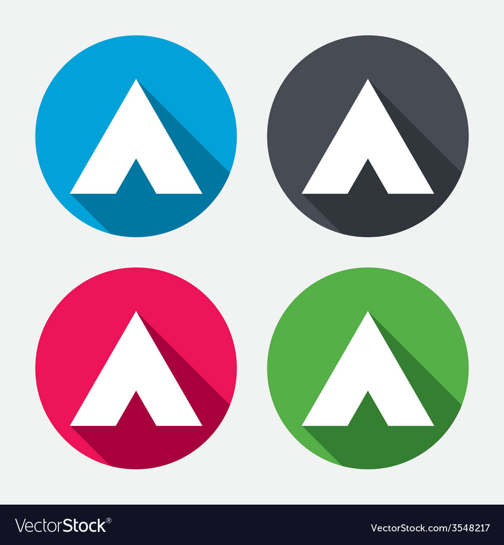 Tourist tent sign icon camping symbol vector   Price: 1 Credit (USD $1)