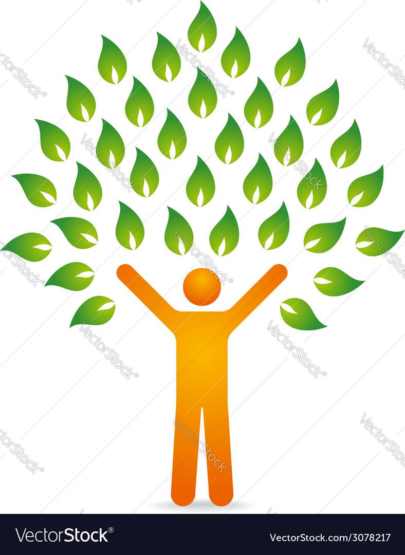 Tree human vector