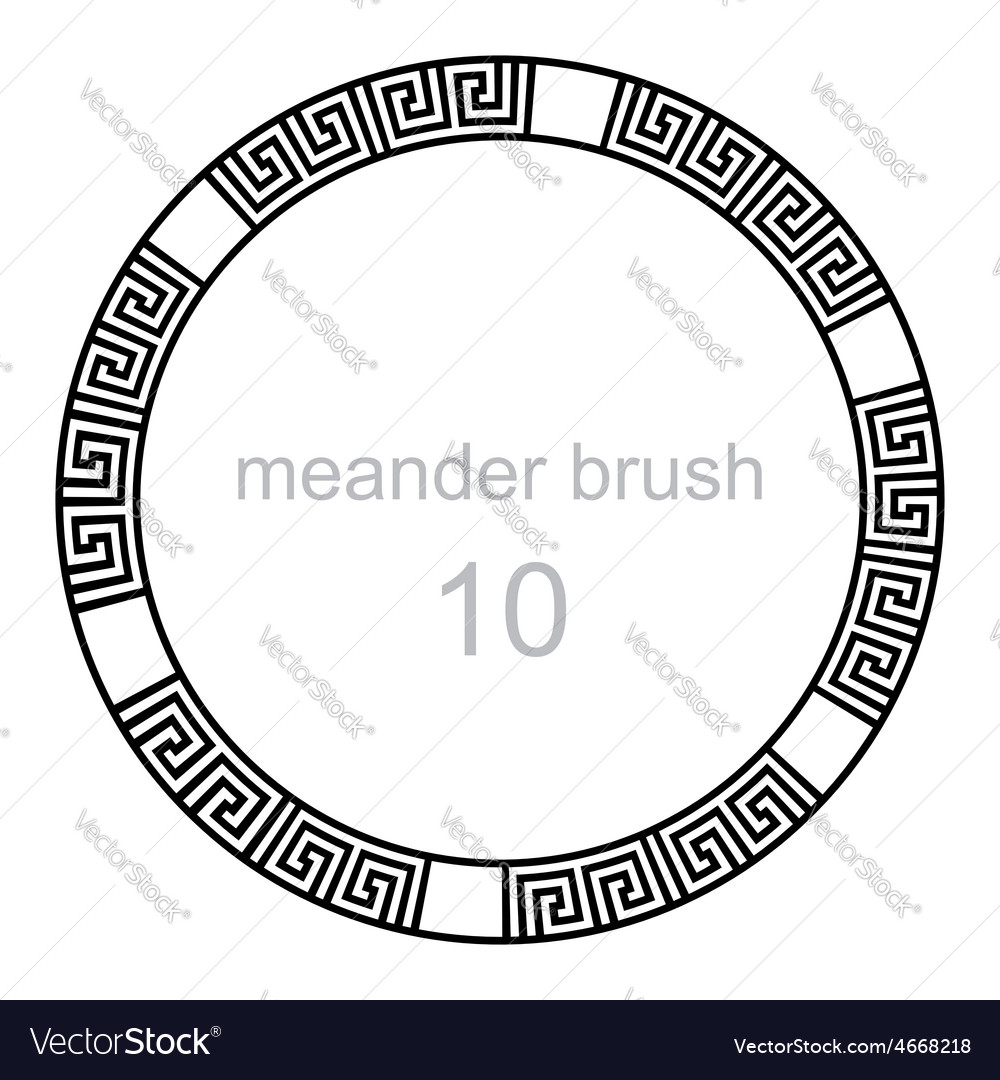 Ancient meander pattern line vector | Price: 1 Credit (USD $1)