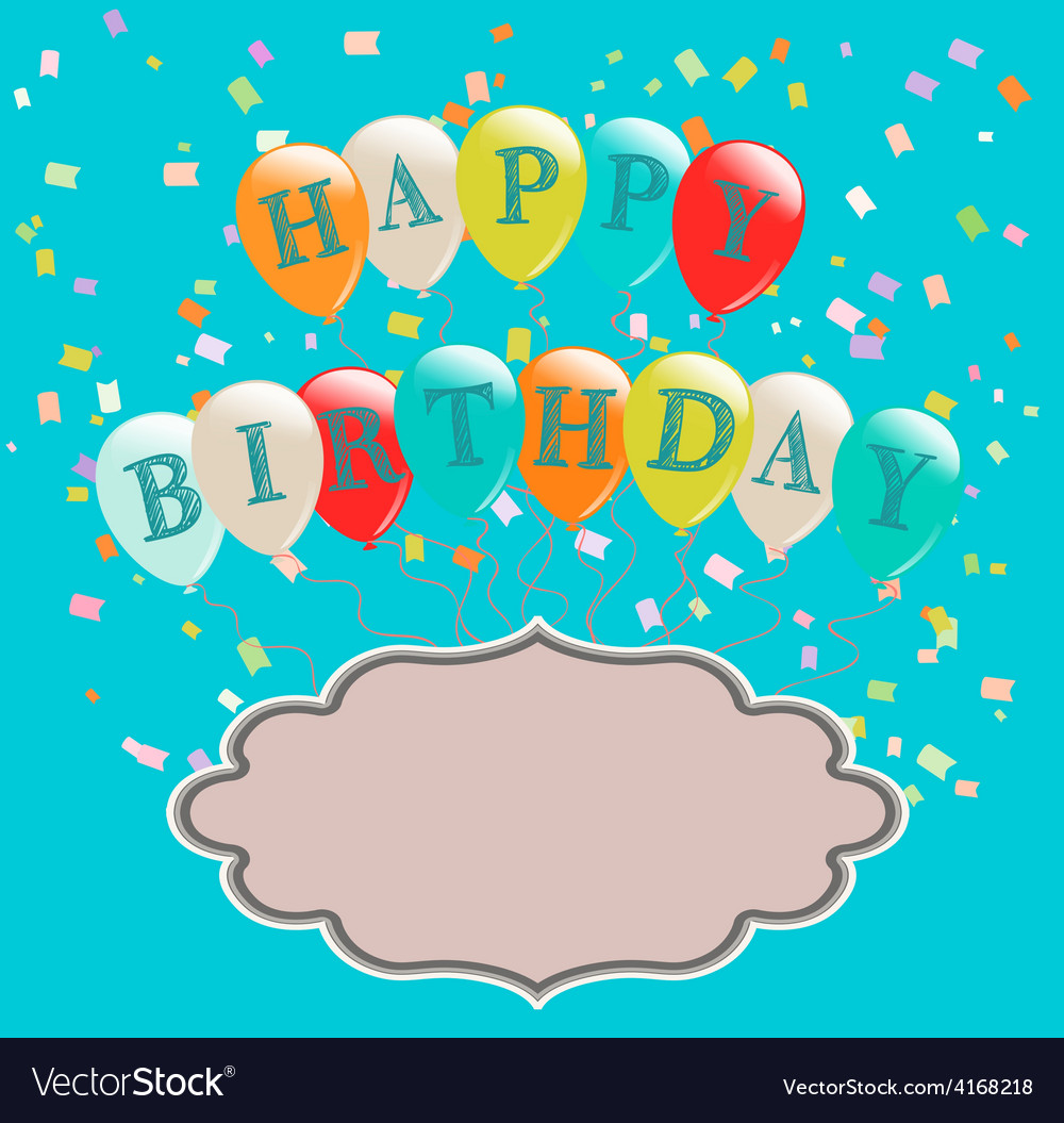 Balloons birthday vector   Price: 1 Credit (USD $1)