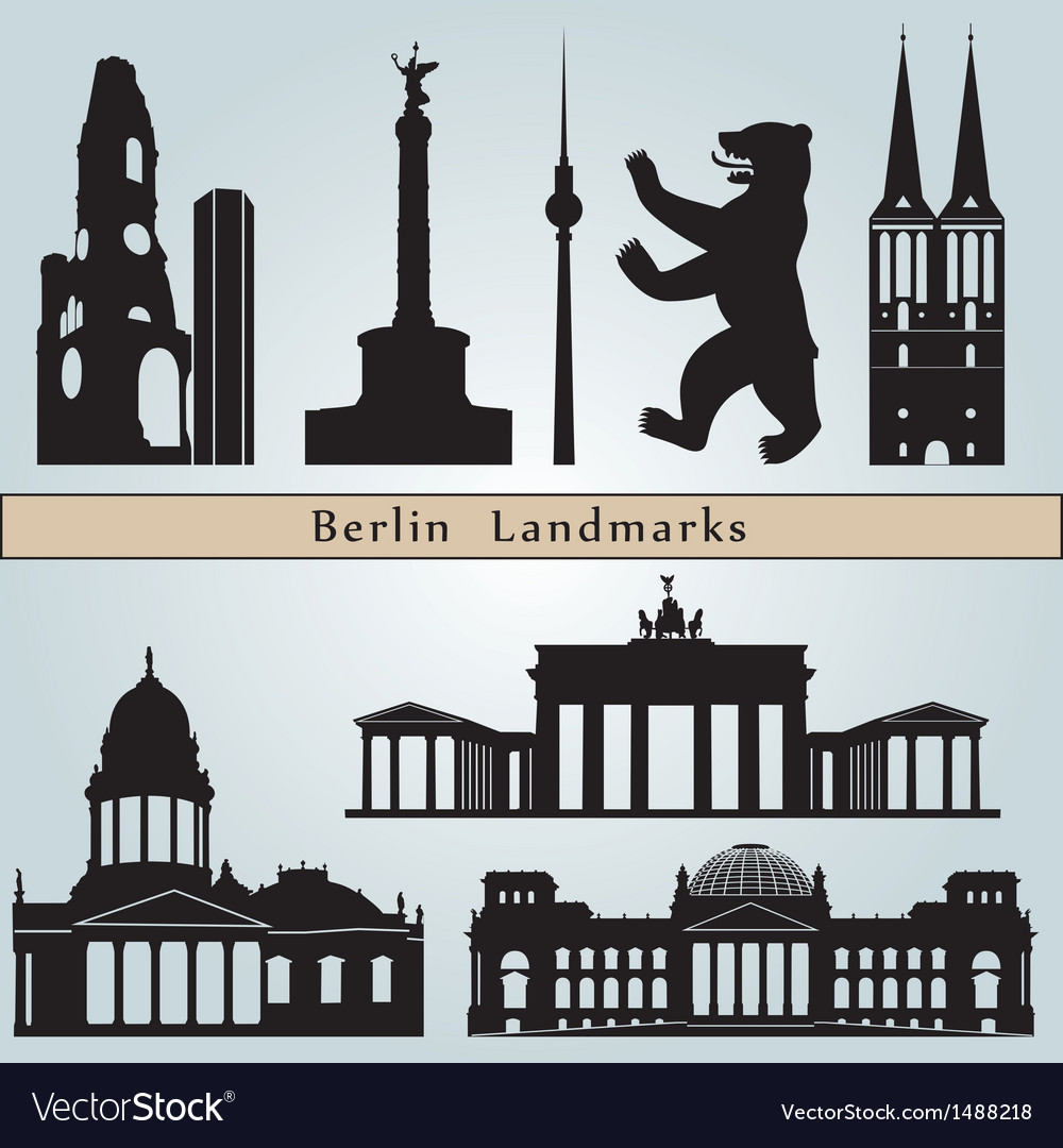 Berlin landmarks and monuments vector | Price: 1 Credit (USD $1)