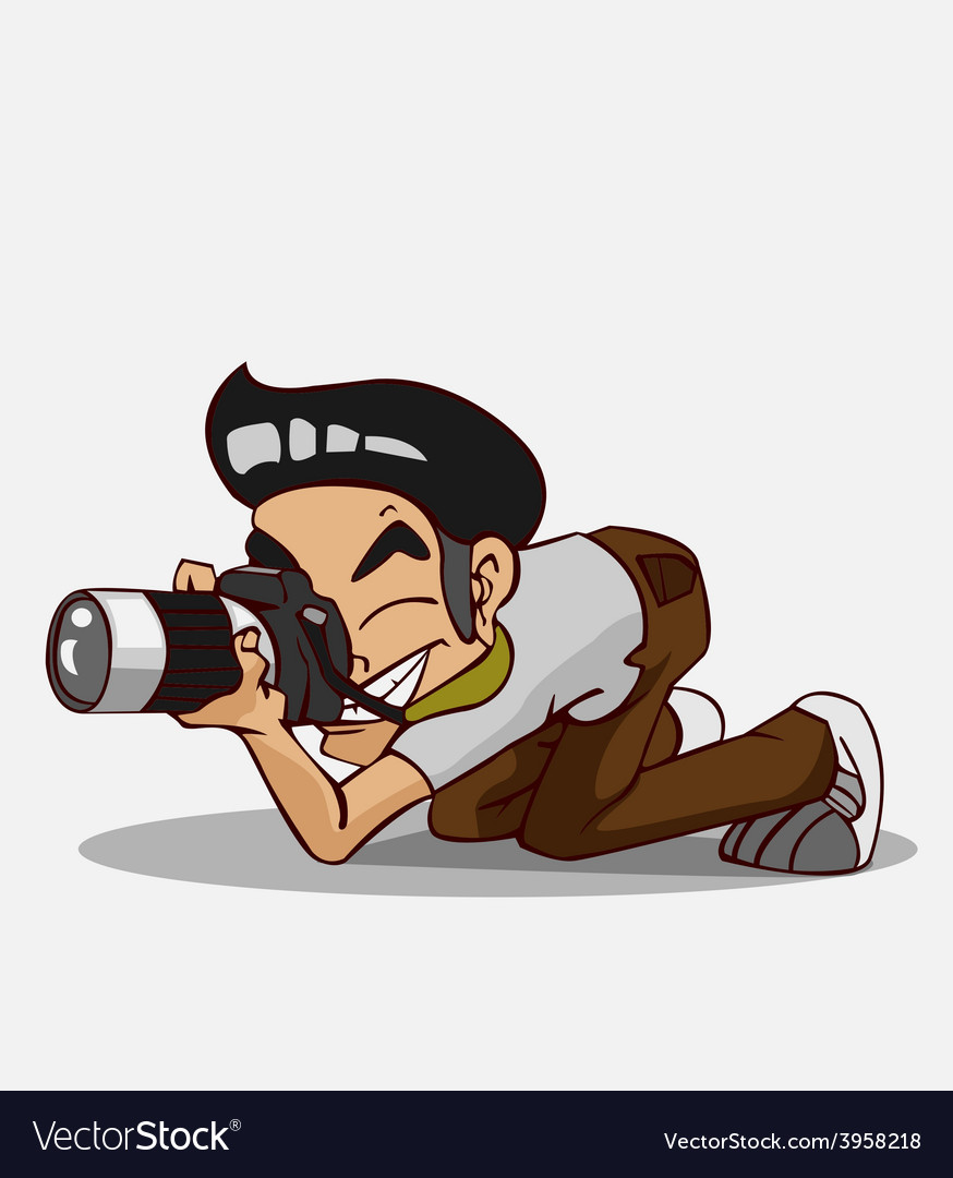 Cartoon character photographer vector   Price: 3 Credit (USD $3)