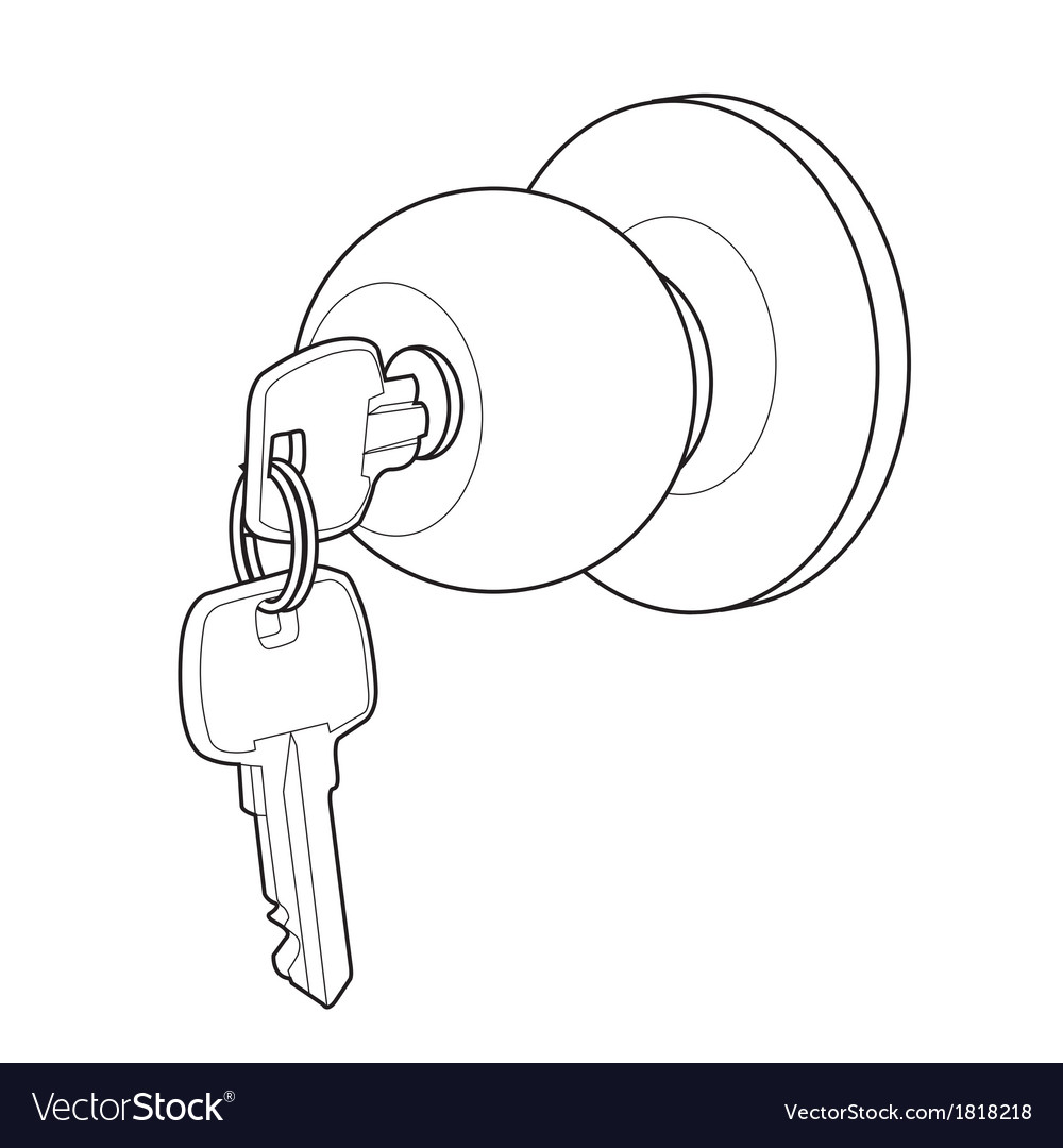 Door knob out line vector | Price: 1 Credit (USD $1)