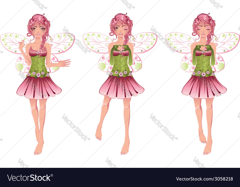 Floral fairy2 vector | Price: 1 Credit (USD $1)