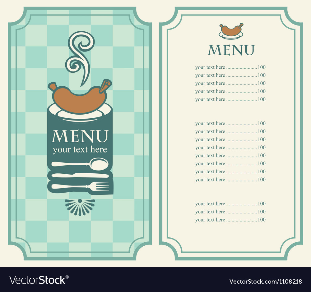 Menu sausage vector | Price: 1 Credit (USD $1)
