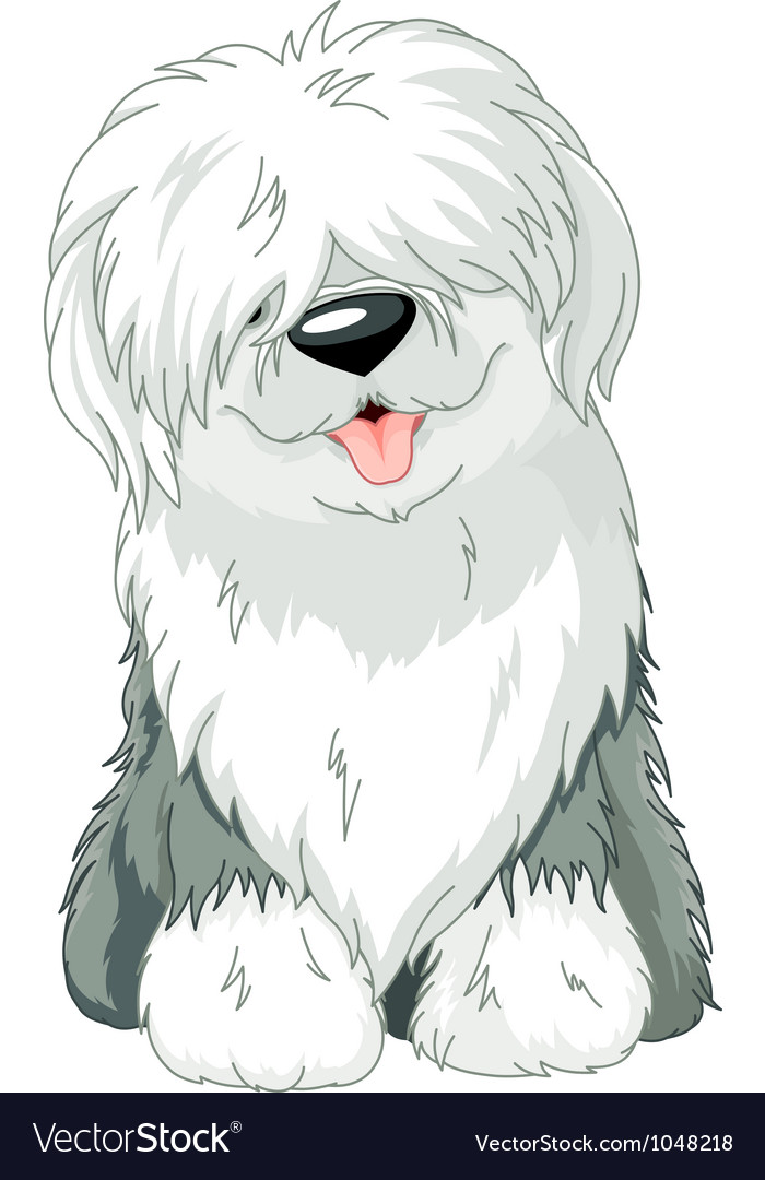 Old english sheepdog vector | Price: 3 Credit (USD $3)