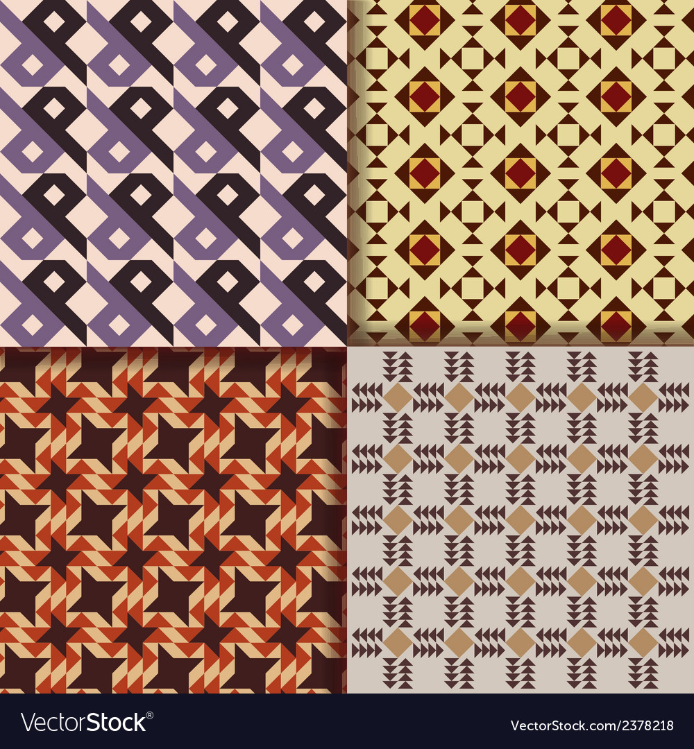 Retro triangle patterns background vector | Price: 1 Credit (USD $1)