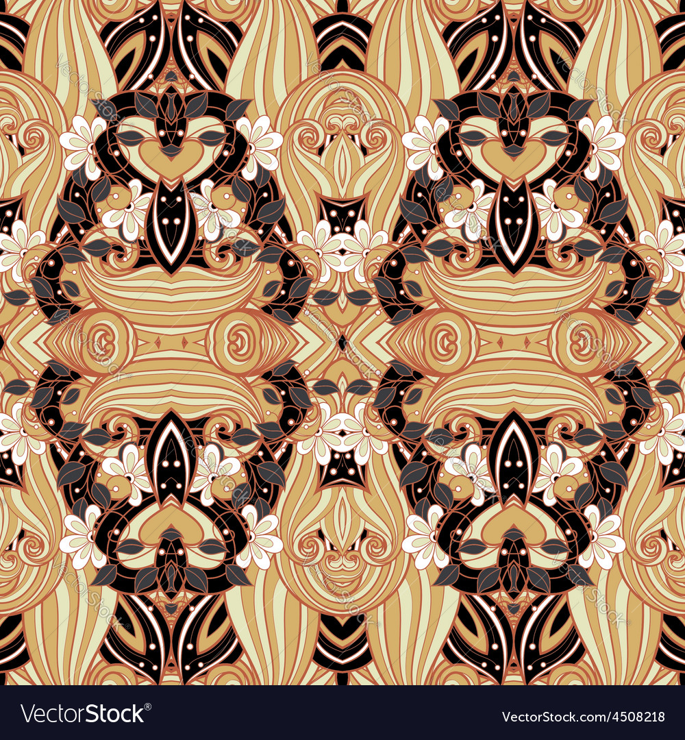 Seamless abstract tribal pattern vector | Price: 1 Credit (USD $1)