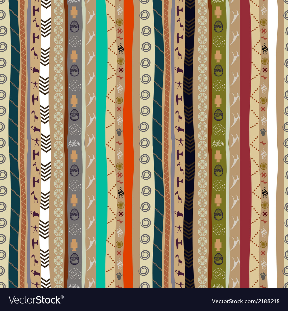 Seamless ethnic pattern with animals vector | Price: 1 Credit (USD $1)