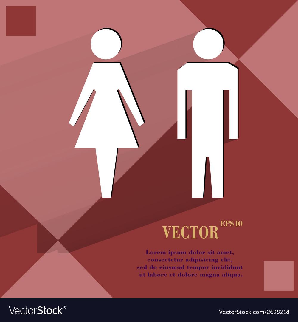 Suluet men women flat modern web design on a flat vector | Price: 1 Credit (USD $1)