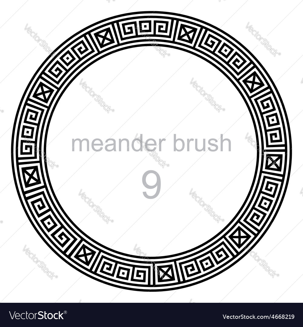 Ancient meander pattern round vector | Price: 1 Credit (USD $1)